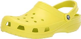 Crocs Classic Clog|Comfortable Slip On Casual Water Shoe, Citrus, 10 M US Women / 8 M US Men