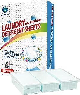 Arkusze Detergentów Do Prania, 90 Sztuk Nano-skoncentrowany Detergent, Przenośne Artykuły Do prania Domowego, Głębokie C...