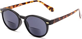 Readers.com Sun Reader: The Drama Bifocal Reading Sunglasses Plastic Round Style for Men and Women