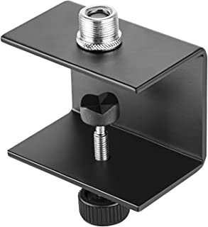 Neewer C-shaped Microphone Table Mounting Clamp with Solid-steel Construction and Nylon Tipped Screw, Fits up to 1.57 inches/4 centimeters Table Thickness for Most Standard Mic Boom Arm Stand(Black)