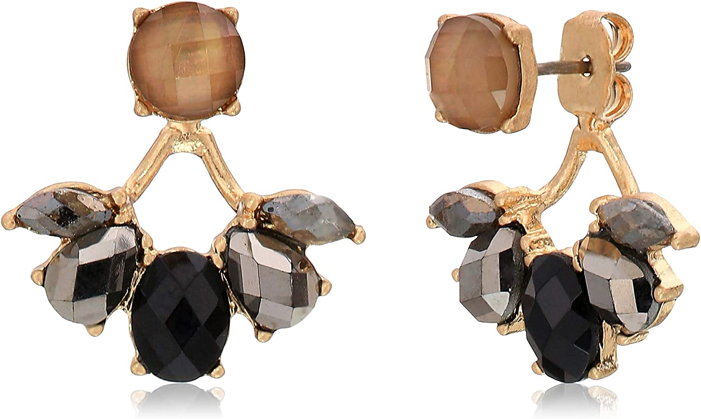 Lonna & Lilly Moonlight Women's Floater Earring Jackets, Black, One Size