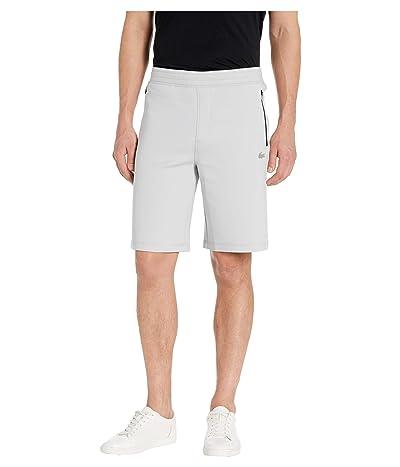 Lacoste Solid Bermuda Shorts Silicon Croc Lacoste Badge at Bottoms Leg Motion (Light Grey) Men