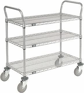 Wire Shelf Utility Cart, 3 Shelves, 800 Lb. Capacity, 36x24x38
