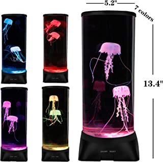 ZgmdaHOME Jellyfish Lamp,Large Electric Jellyfish Aquarium,Jellyfish Tank Mood Light with 7 Alternating Colors,Perfect as Kid's Night Lamps or Decorative Lamps for Couples or Households.