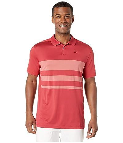Nike Golf Dry Vapor Polo Stripe (Sierra Red/Light Redwood/Sierra Red) Men