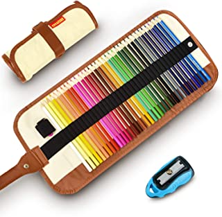 Colored Pencils Set for Adult and Kids - COVACURE Premier Color Pencil Set With 36 Colouring Pencils Sharpener and Canvas Pencil Bag for Kids and Adult Coloring Book. Ideal for Christmas Gifts