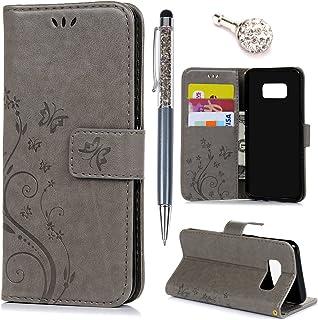 Karomenic Pr/ägen PU Leder H/ülle kompatibel mit Samsung Galaxy S3 L/öwenzahn Muster Handyh/ülle Brieftasche Schutzh/ülle Klapph/ülle Ledertasche mit Standfunktion Wallet Flip Case Etui,Grau