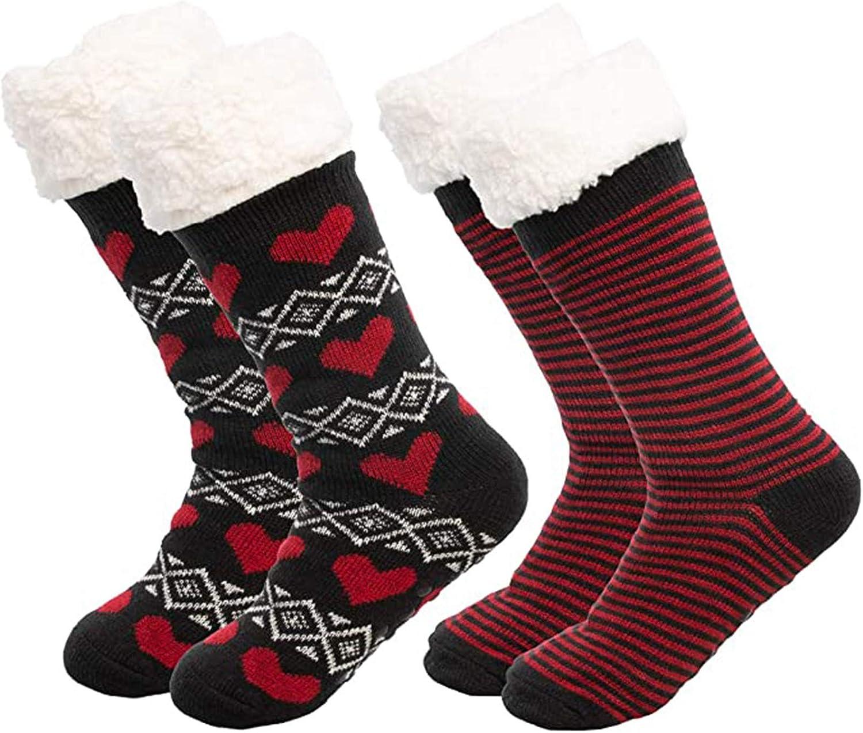 Max 55% OFF XCeihe Womens Fashion Soldering Winter Warm Tube Fuzzy Socks