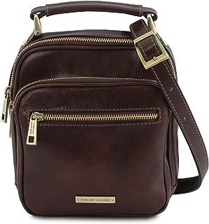 Tuscany Leather - Paul - Leather Crossbody Bag - TL141916 (Dark Brown)