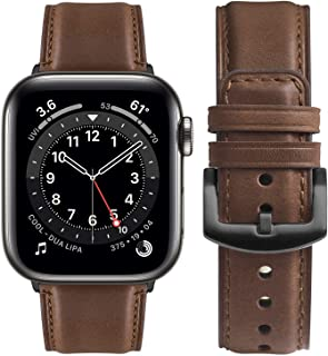 Fullmosa Compatible for Apple Watch Band 38mm 40mm 42mm 44mm, Fullmosa YOLA Leather Apple Watch Band for iWatch SE, iWatch...
