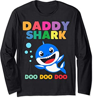 Daddy Shark Doo Doo shirt for Birthday Boy, Girl, Kids Gift Manche Longue