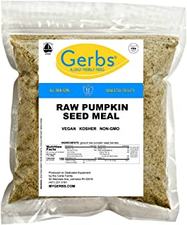 GERBS Ground Pumpkin Seed Meal, 16 ounce Bag, Top 14 Food Allergy Free, Non GMO, Vegan, Keto, Paleo Friendly