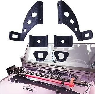 omotor Hi Lift Jack Mount Hood Hinge/Door Hinge Bracket for Jeep Wrangler JK 2007-2018,Jeep Wrangler JL 2018-2019