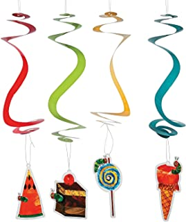 Fun Express - Very Hungry Caterpillar Hanging Swirls for Birthday - Party Decor - Hanging Decor - Spirals & Swirls - Birthday - 12 Pieces
