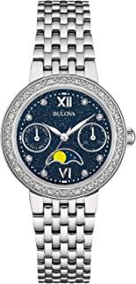 Bulova Women's 32mm Stainless Steel Moon Phase Diamond Watch