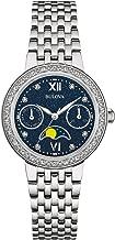 Bulova Women's 32mm Stainless Steel Moon Phase Diamond Watch