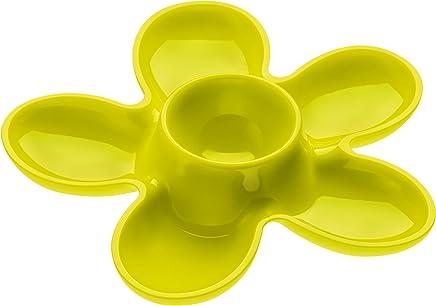 Preisvergleich für koziol Eierbecher A-Pril, Kunststoff, senfgrün, 13.1 x 13.6 x 2.5 cm