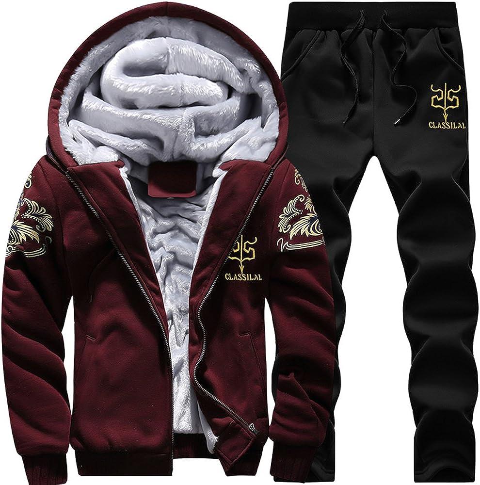 MANTORS Men's Tracksuit Max 48% OFF Winter Soft Fleece War Popular brand in the world Hooded Sweatsuits
