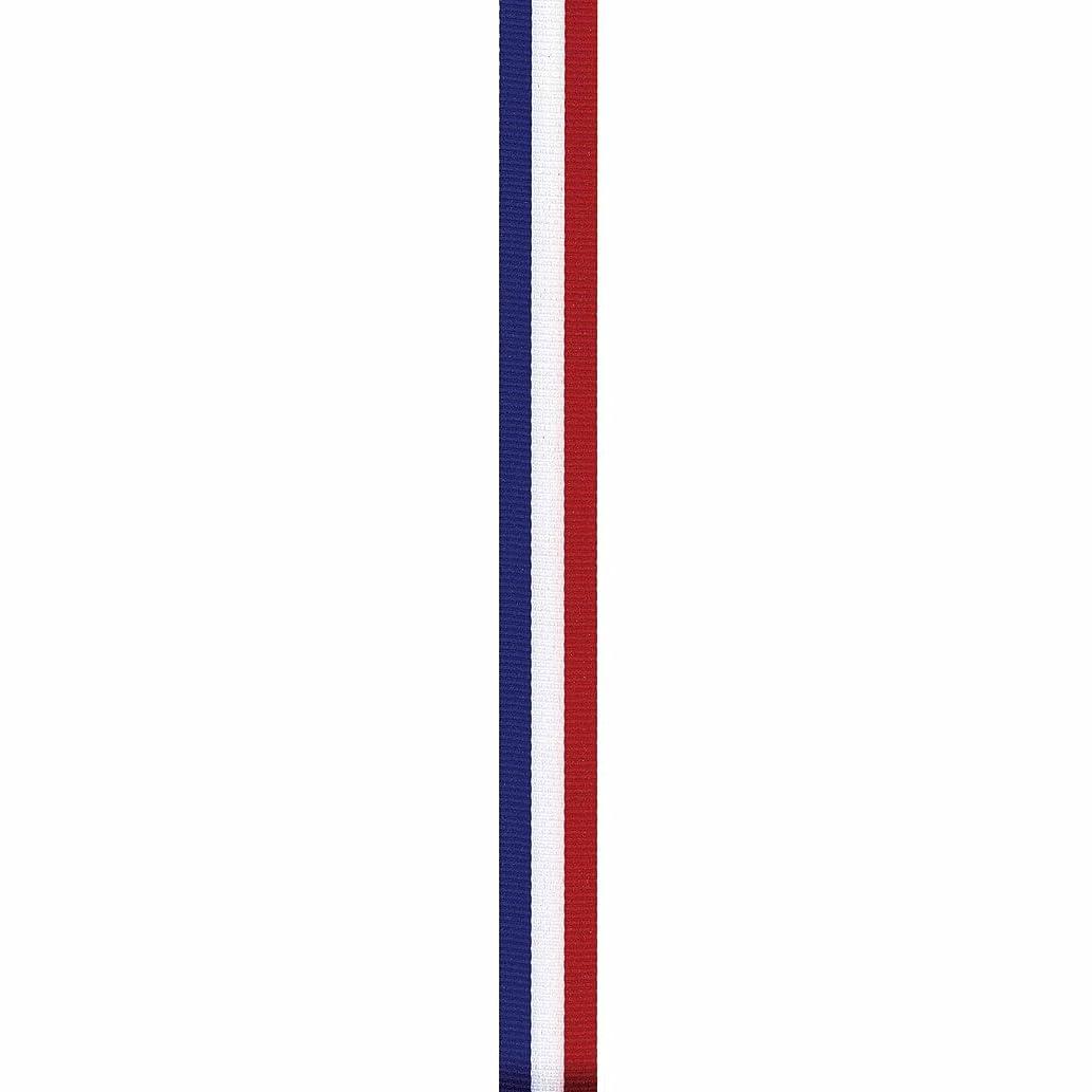 Offray Tri-Stripe Craft Ribbon, 1/8-Inch x 15-Feet, Royal