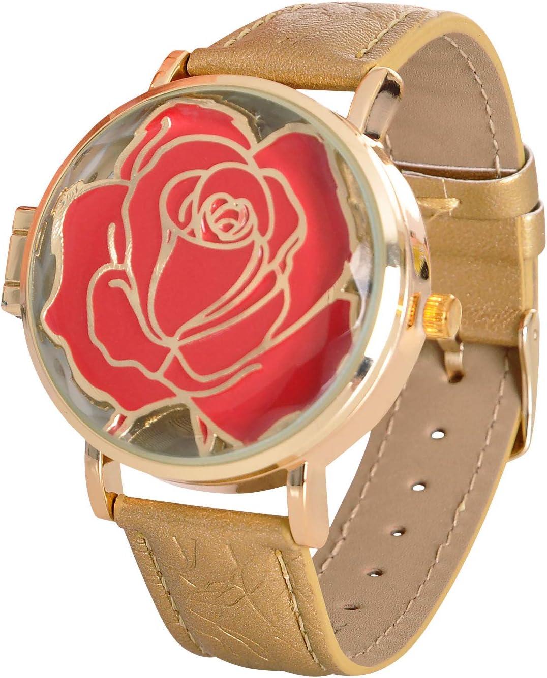 Die Schöne und das Biest La Bella y la Bestia Disney Watch Enchanted Rose analógico con bisagras