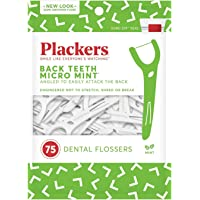 75-Count Plackers Back Teeth Micro Mint Dental Floss Picks