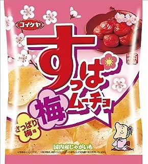 Koikeya Suppamucho Potato Chips, Refreshing Ume, 2.01 Ounce (Pack of 12)