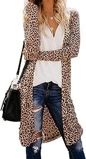 Womens Long Sleeve Print Lightweight Casual Cardigans Outwear Coats