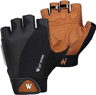 WEST BIKING Half Finger Cycling Gloves Anti-slip Breathable Men Anti-shock Outdoor Sport MTB Bicycle Motorcycle Gloves