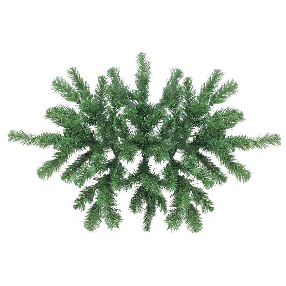 Christmas Swag Decoration Grand Deluxe Windsor Pine Elegant Christmas Door Swags Classic Family Xmas Swag Unlit 28'