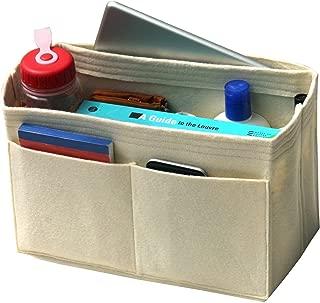 [Fits Neverfull GM/Speedy 40, Beige] Felt Organizer, Bag in Bag, Wool Purse Insert, Customized Tote Organize, Cosmetic Makeup Diaper Handbag