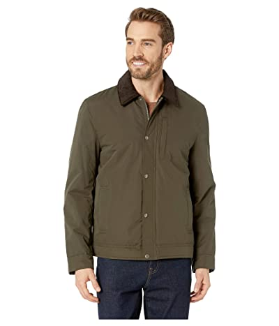Cole Haan City Rain Padded Barn Jacket with Corduroy Collar (Olive) Men