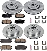 Power Stop KOE5516 Front and Rear Brake Kit- Stock Replacement Brake Rotors and Ceramic Brake Pads