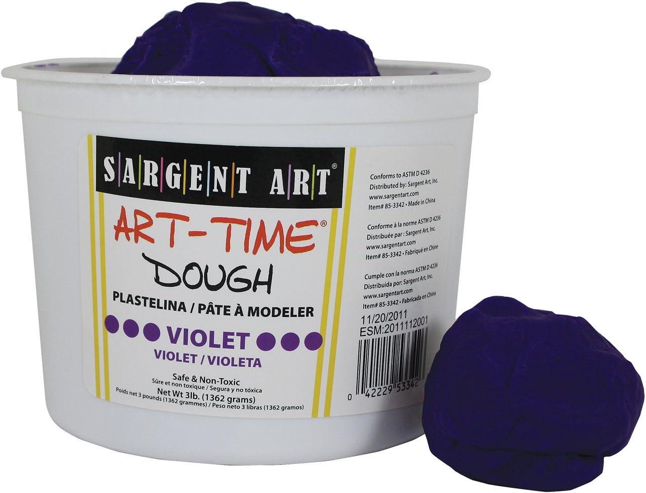New item Sargent Art 85-3342 3-Pound Violet 5 popular Dough Art-Time