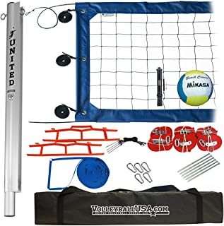"""4"""" ATS Volleyball Net System with Mikasa Super Soft and Ball Pump"""