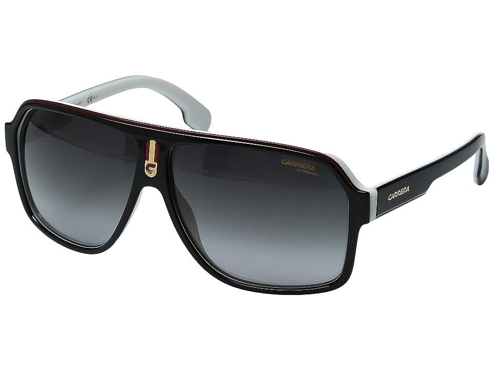 Carrera Carrera 1001/S (Black White/Grey Gradient) Fashion Sunglasses