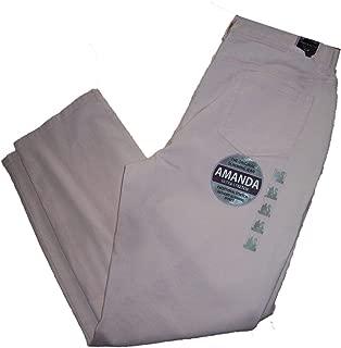 Gloria Vanderbilt Womens Amanda Slimming Stretch Classic Tapered Leg Denim Jeans 18 Averag. Purple