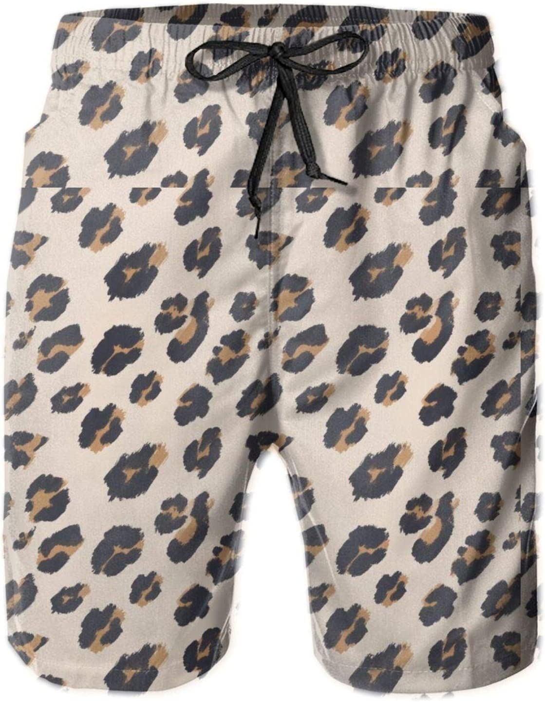 pengyong Leopard Cheetah Spotted Texture Summer Underwear Board Shorts Bathing Suits Holiday Swim Trunks Quick Dry