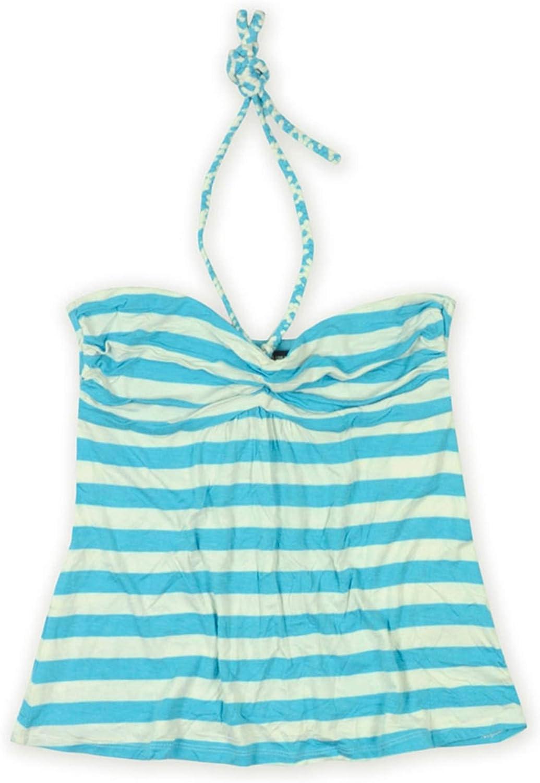 Ecko Unltd. Womens Stripe Halter Tank Cami Blue S