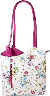 Freyday 2 in 1 Handtasche-Rucksack Henkeltasche aus Echtleder in versch. Designs