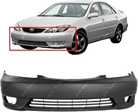 MBI AUTO - Primered, Front Bumper Cover Fascia for 2005 2006 Toyota Camry w/Fog 05 06, TO1000285