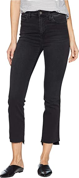 Modern High-Rise Straight Crop Jeans in Art School Grey