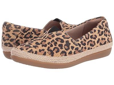 Clarks Danelly Sky (Tan Leopard Suede) Women