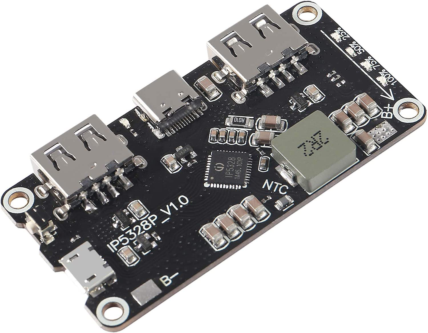 DORHEA Max 68% OFF IP5328P Boost Charging Module Fast 18650 Safety and trust USB Battery Dual