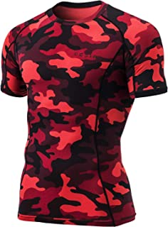 Mens Cool Dry Compression Baselayer Short Sleeve T-Shirt