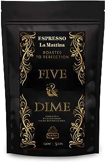 Sponsored Ad - Five & Dime - Premium Whole Bean Coffee, LA MATTINA, Medium-Dark Roast, Dark & Rich with Flavors of Cacao, ...