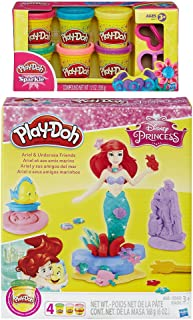 Play-Doh Disney Princess Ariel & Undersea Friends Play Set + Play-Doh Sparkle Compound Bundle