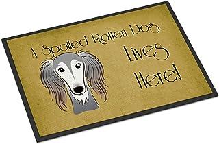 "Caroline's Treasures BB1477MAT Saluki Spoiled Dog Lives Here Indoor or Outdoor Mat, 18 x 27"", Multicolor"