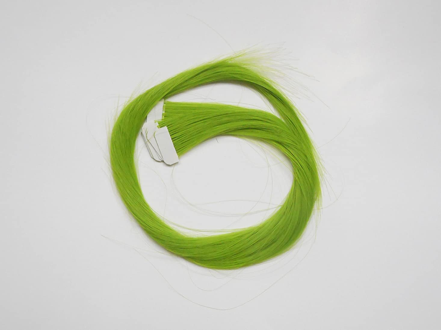 弓行く気性簡単エクステ テープエクステンション シールエクステンション 10枚入 10色カラー (グリーン)