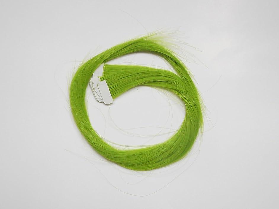 デマンド重荷組み込む簡単エクステ テープエクステンション シールエクステンション 10枚入 10色カラー (グリーン)