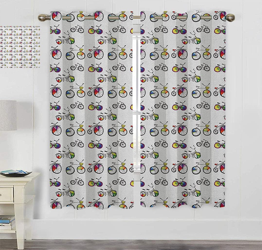 Yaliaprint Bicycle Thermal Insulated Kansas City Mall Penny Under blast sales Hand Curtains Drawn